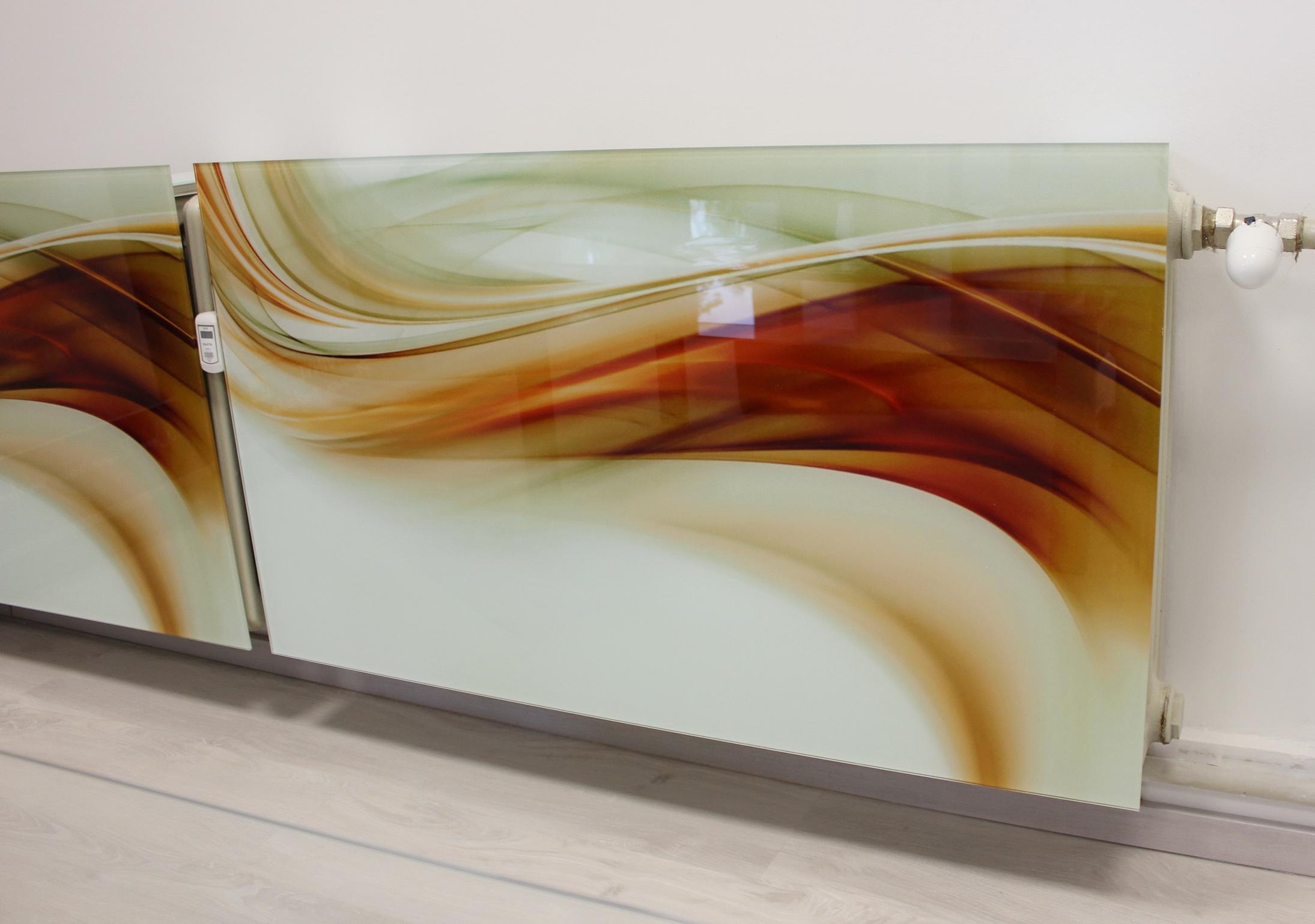 sklenený radiátorový kryt 1
